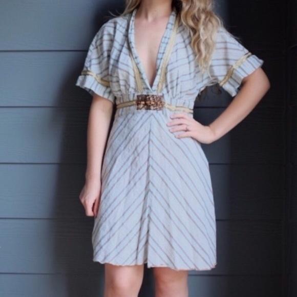d8b34dc1c84d Anthropologie Dresses | Rare Striped Short Sleeve Dress | Poshmark
